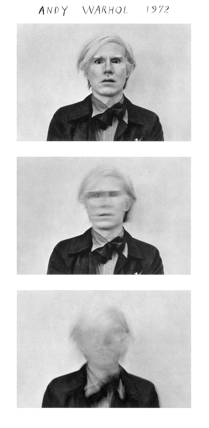 Andy Warhol by Duane Michals, 1972