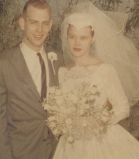 At their wedding in 1958.
