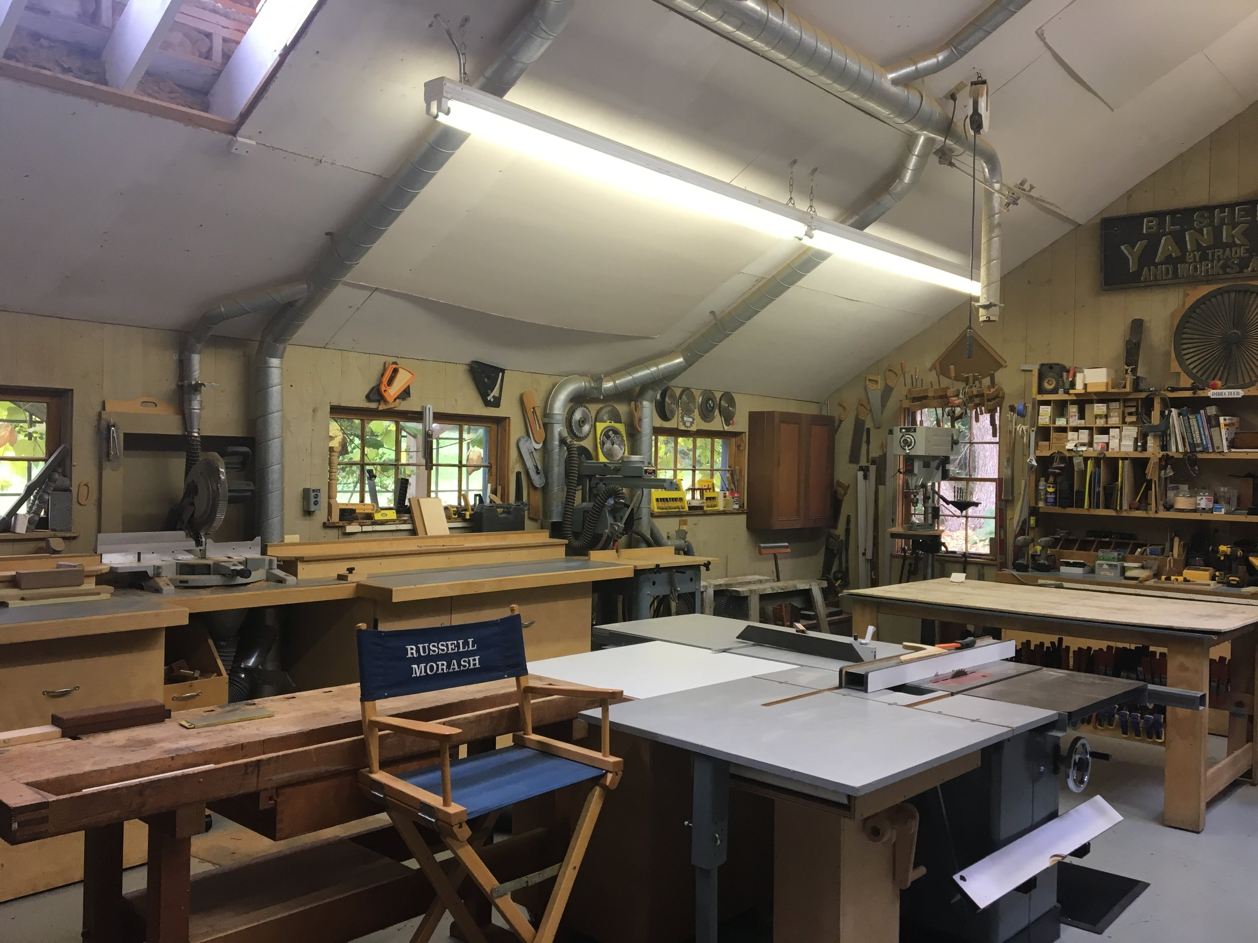 "Inside ""The New Yankee Workshop."" (Photo by author)."