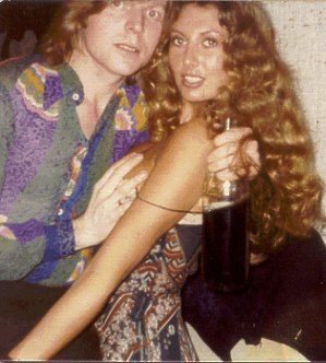 Marylin with Roxy Music's press officer, Simon Puxley.