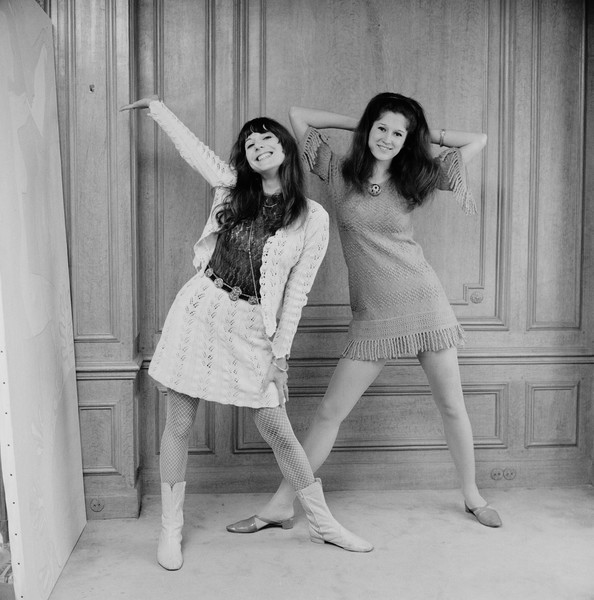Vicky and Mia in 1967.