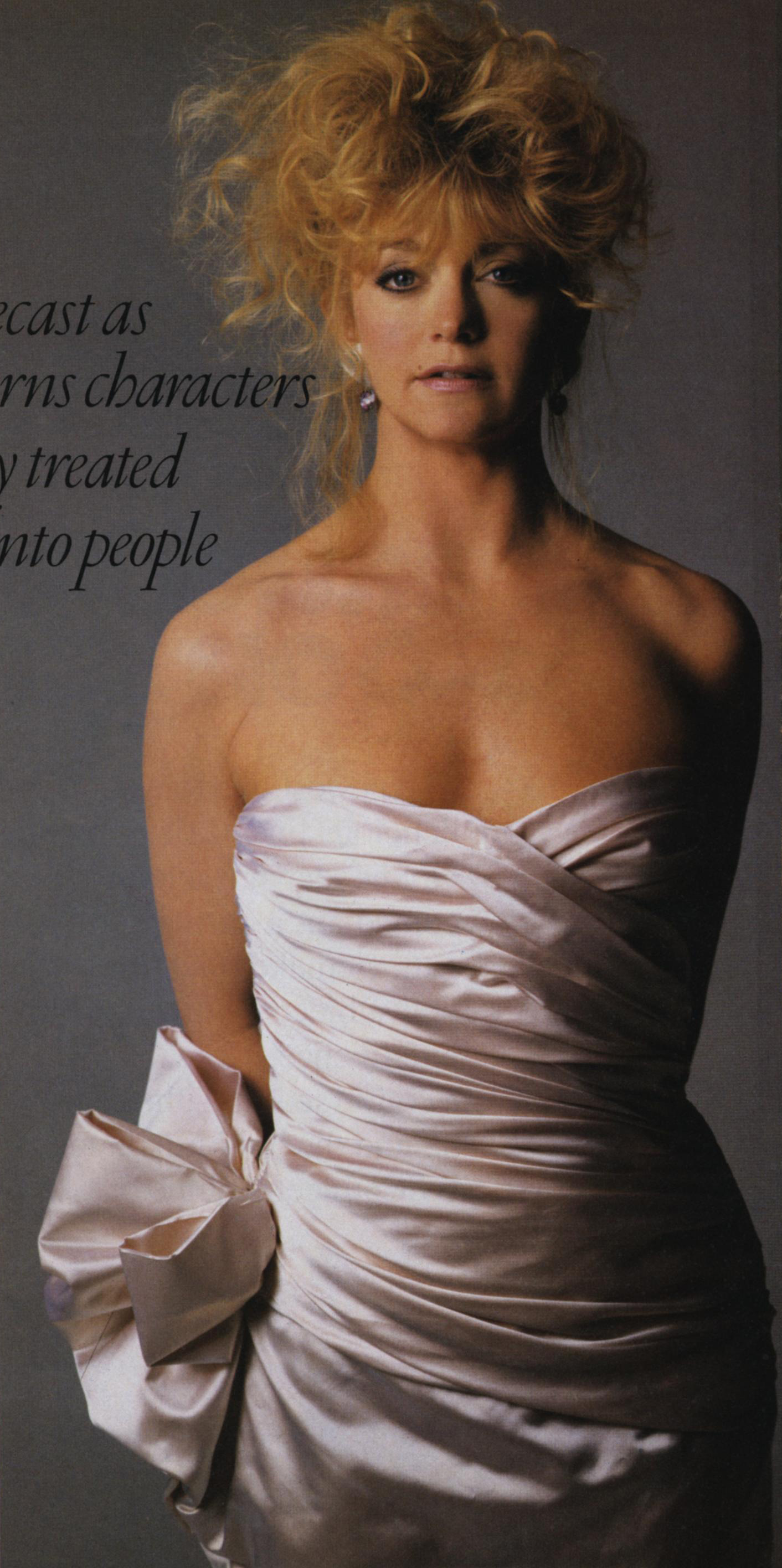 The sculpting effect of Tiel's dresses was beloved by celebrities, including Goldie Hawn who often wore them for events. Photo by Denis Piel for Vogue, May 1984.