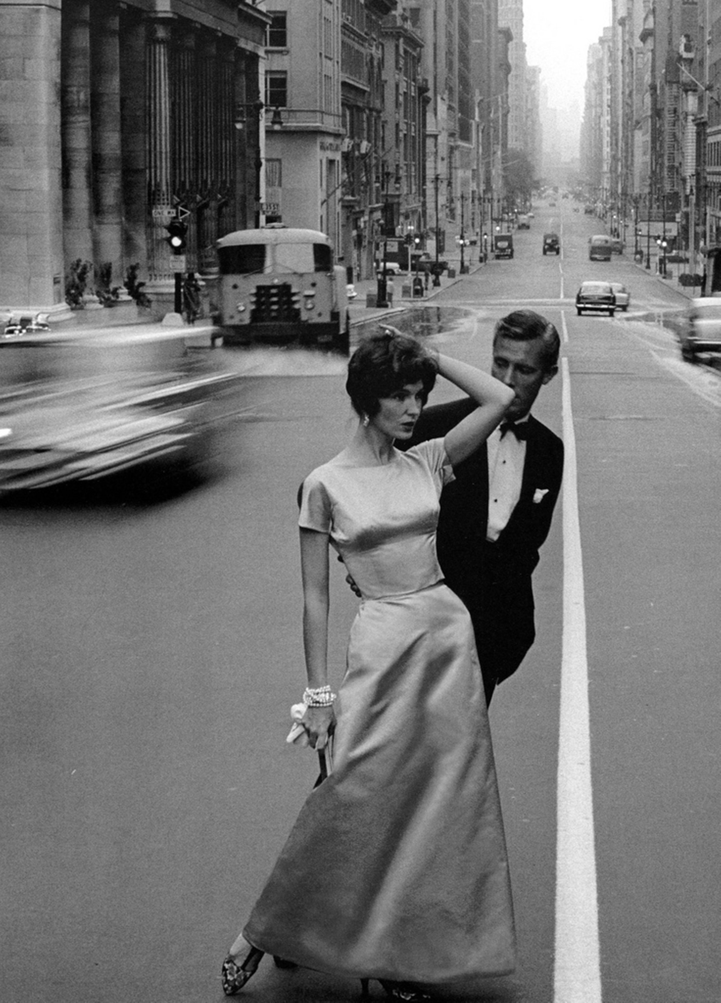 Joanna McCormick and Colin Fox photographed by Jerry Schatzberg in New York, 1958.