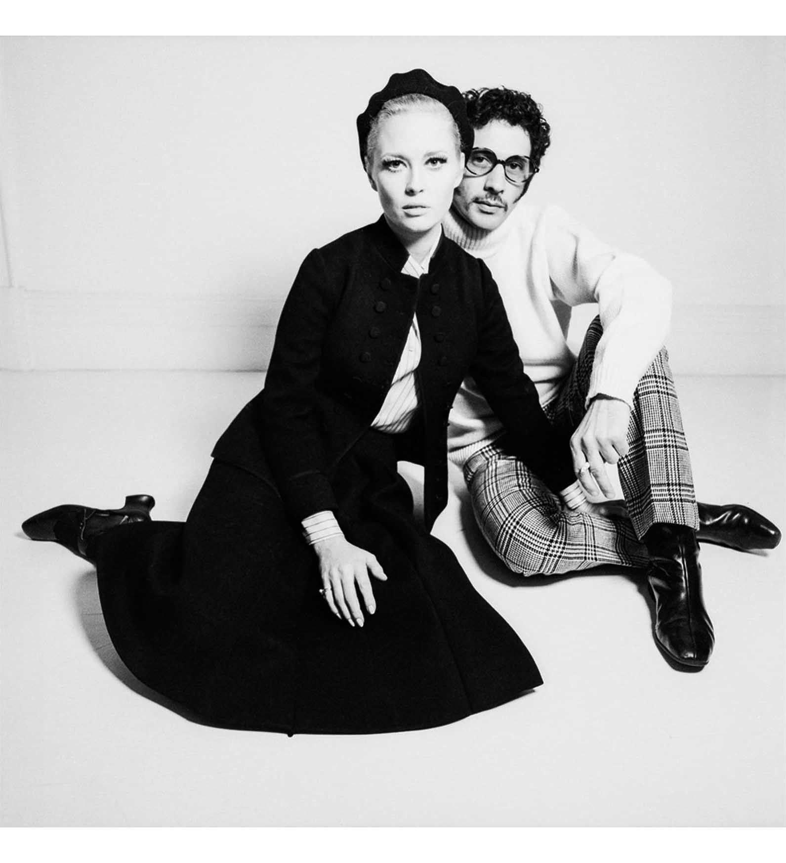 Faye Dunaway and Jerry Schatzberg. Photo by Terence Donovan for the Daily Express newspaper, November 1967.