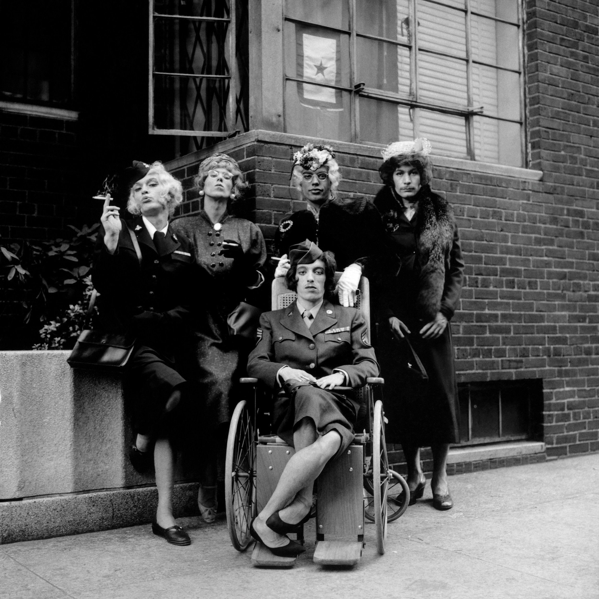 The Rolling Stones in drag, 1966. Photo by Jerry Schatzberg.