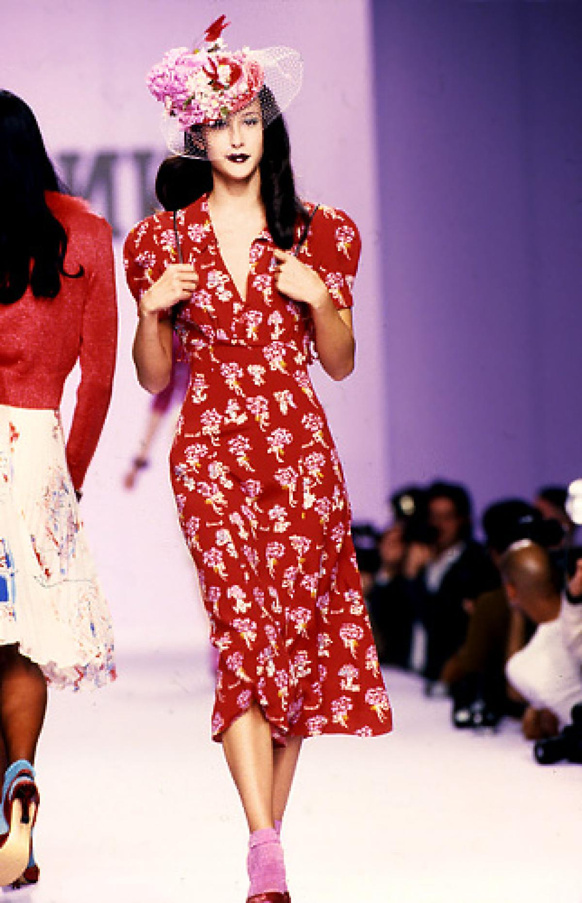 A 1940s-inspired dress from Anna Sui's s/s 1995 collection