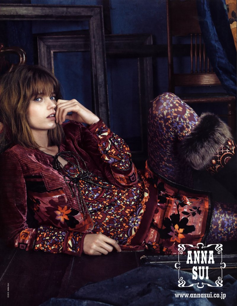 Abbey Lee for Anna Sui, f/w 2010. Photographed by Emma Summerton.