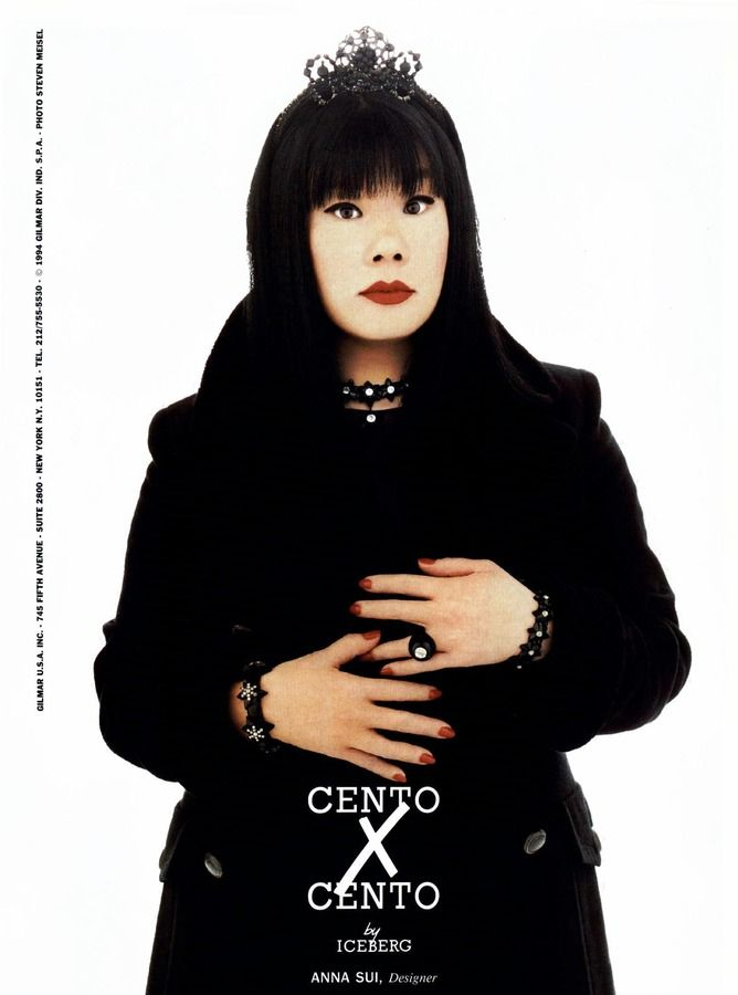 Anna Sui for Cento x Cento by Iceberg Campaign, f/w 1994. Photographed by Steven Meisel.