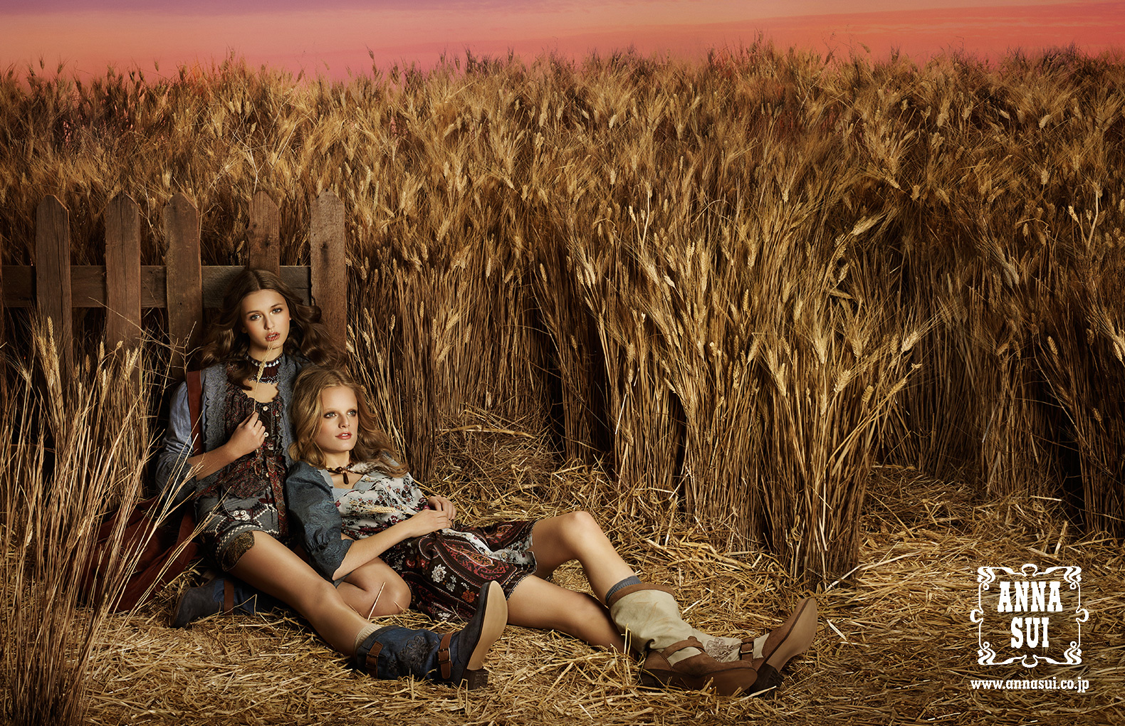 Hanne Gaby Odiele and Kristina Romanova for Anna Sui, s/s 2011. Photographed by Josh Jordan.