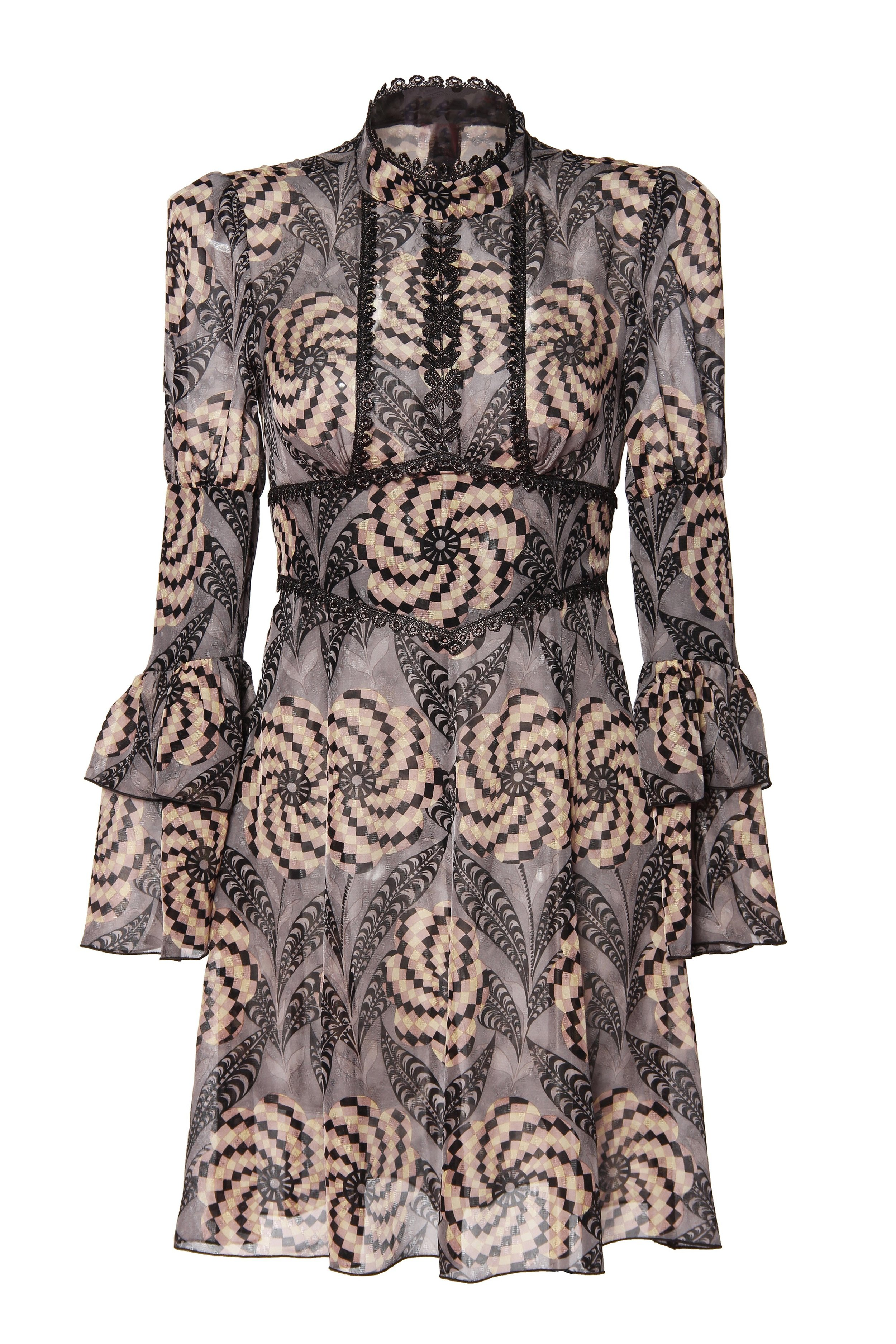 Shades of Psychedelia High Neck Dress $735