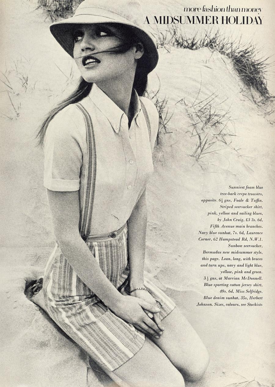 Ingrid photographed by Just Jaekin for Vogue UK, July 1968.