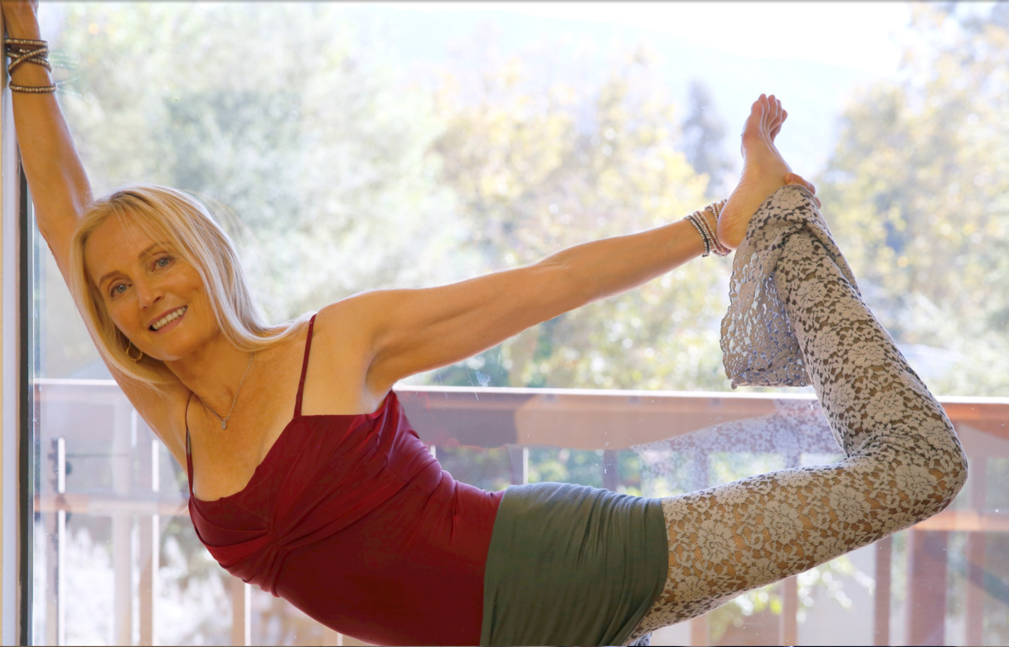 Ingrid today at her yoga studio in Ojai.