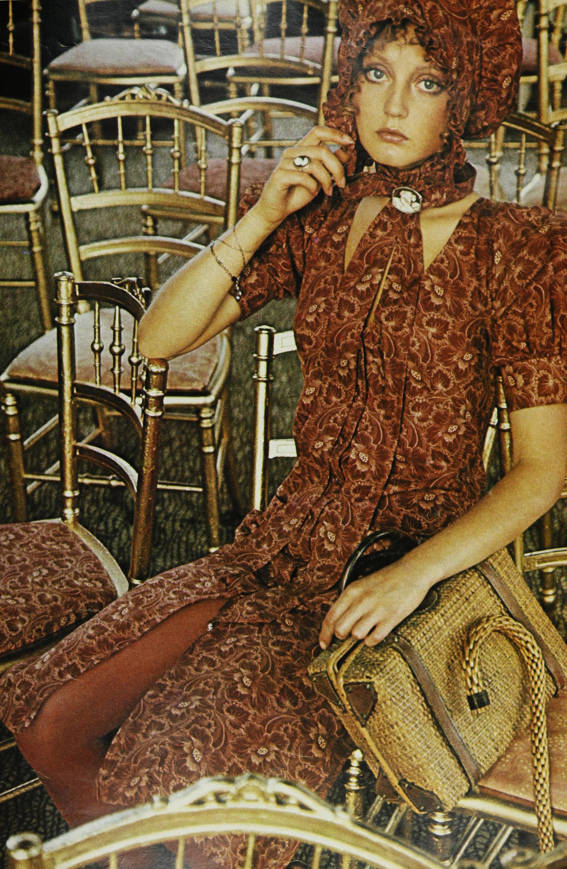 Modeling Biba for Seventeen, January 1971. Photo by Sarah Moon.