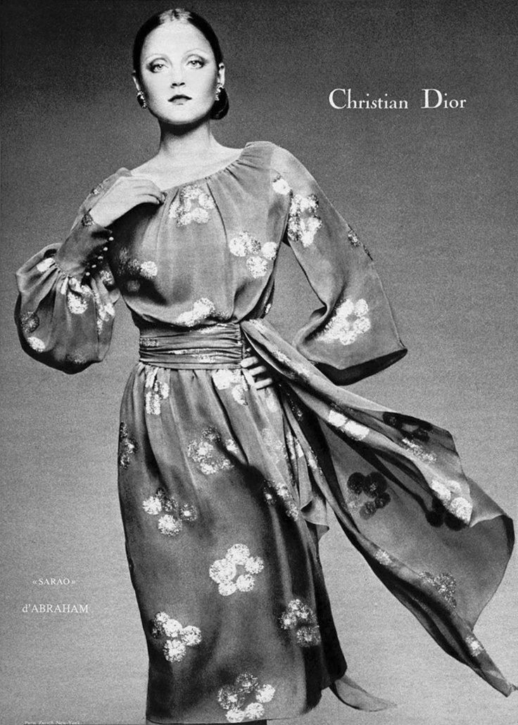 Ad for Christian Dior, c. 1972.