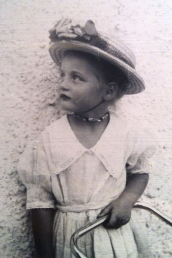 Ingrid as a small child in Transvaal, South Africa.