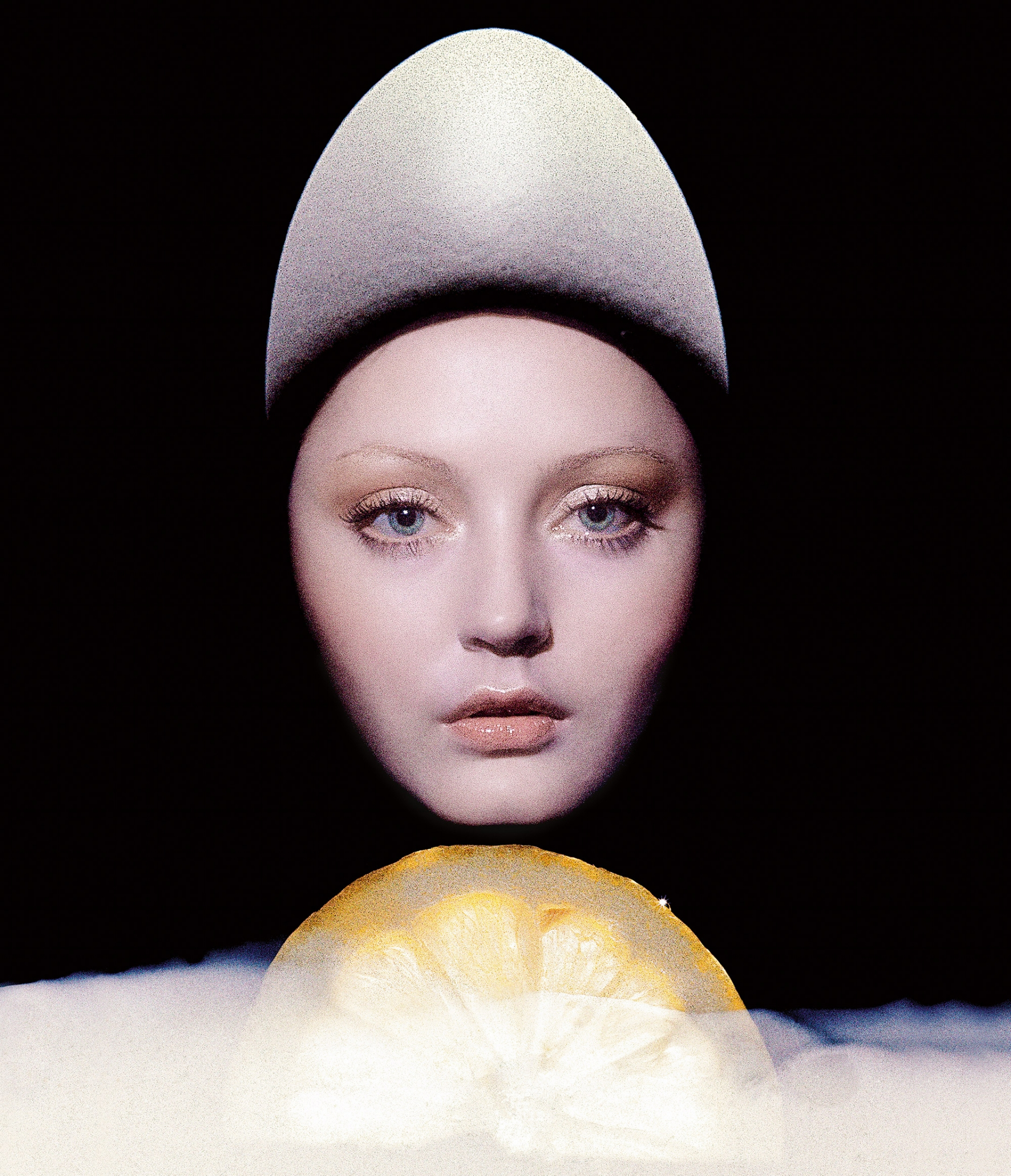 """""""Beauty Timing"""" by Clive Arrowsmith for Vogue UK, April 1973."""