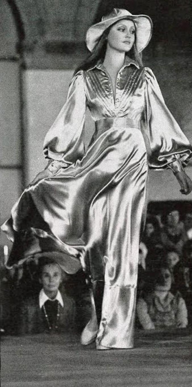 Modeling in London, c. 1971.