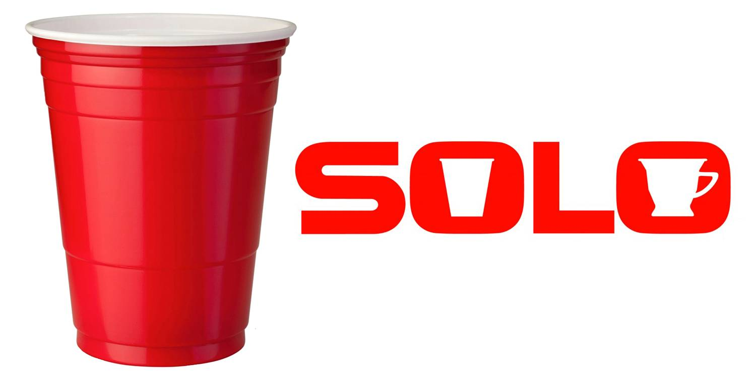 The Solo cup logo and red cup color, designed by Sandy Dvore.