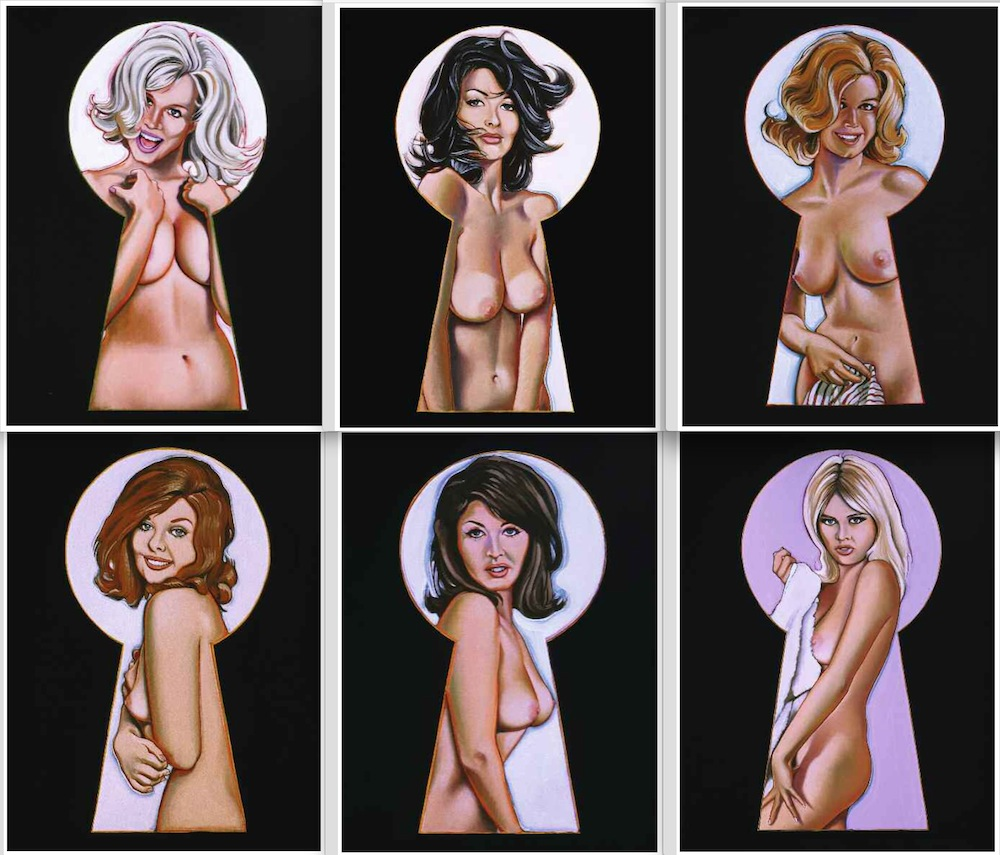 """Six """"Peek-a-boo"""" paintings from 1964."""