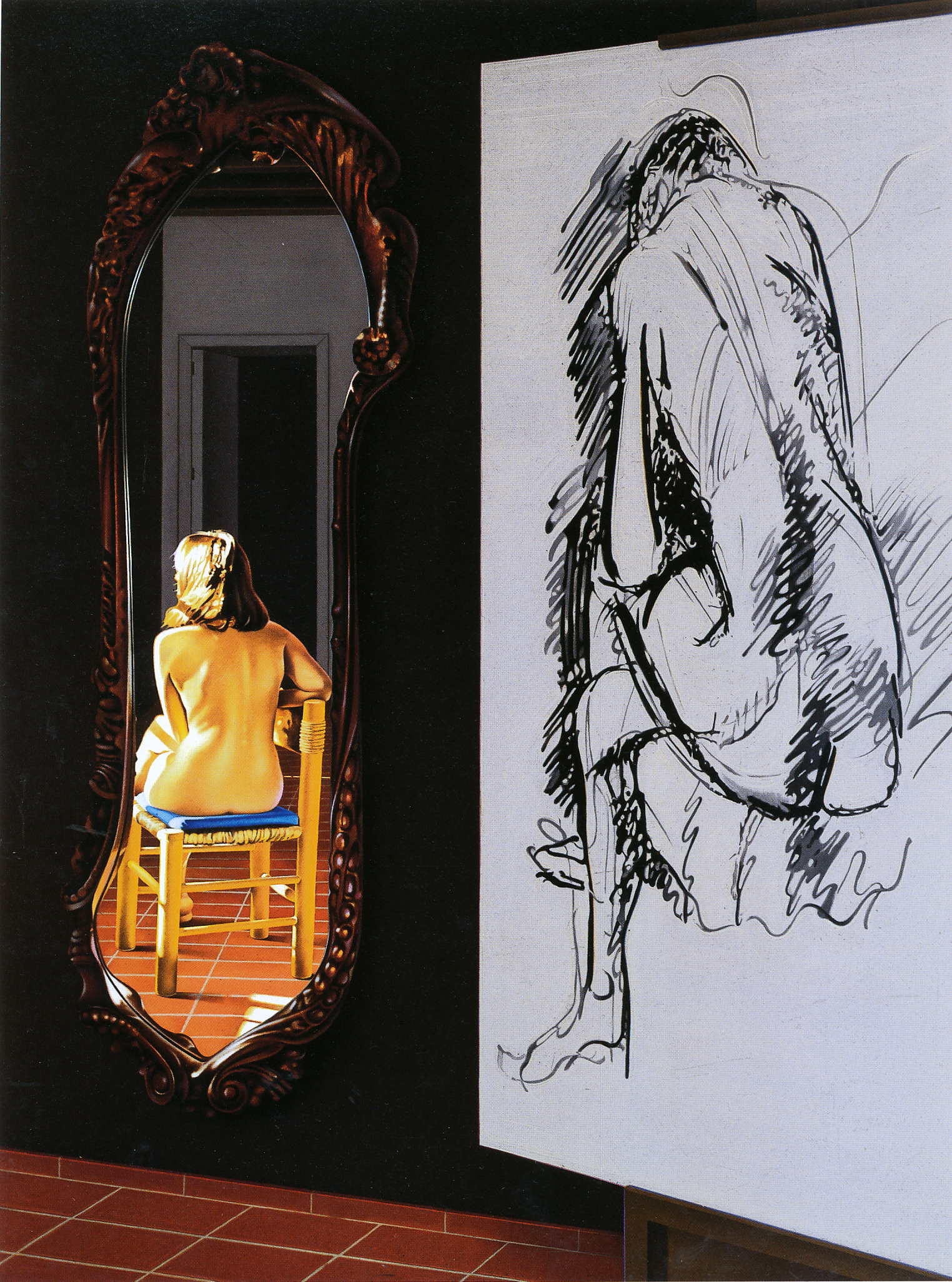 """""""The Drawing Lesson #4"""", 1989."""