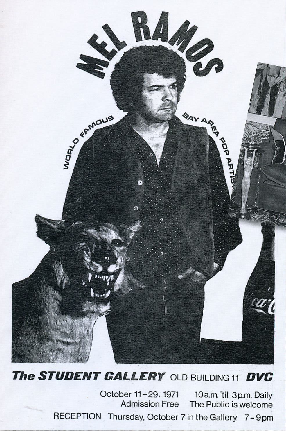 Exhibition poster for The Student Gallery, 1971.