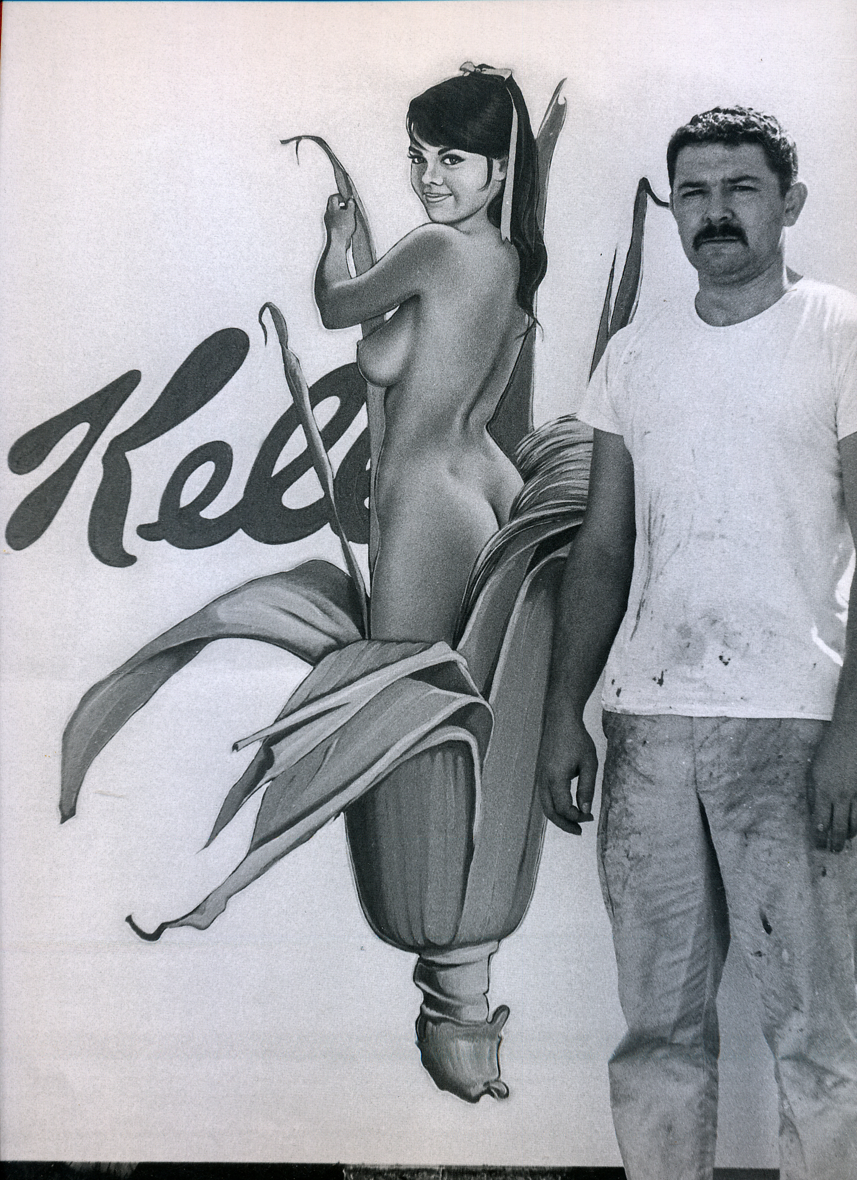 """Mel with """"Miss Corn Flakes,"""" 1964."""