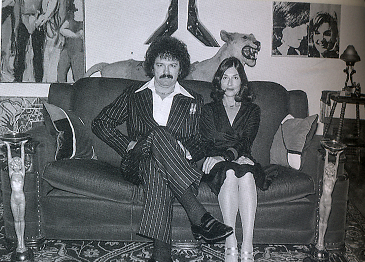 Mel and Leta in their Oakland home, 1976.