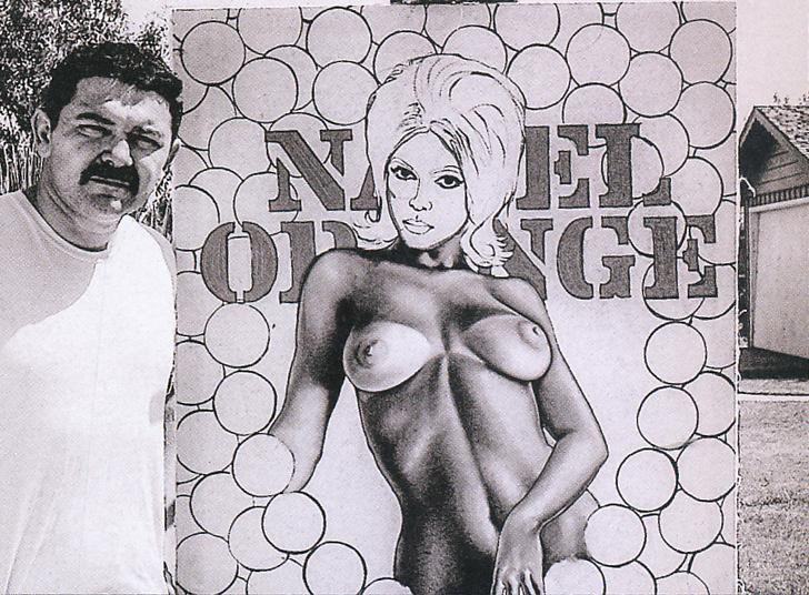 "Mel with ""Miss Navel Orange #2,"" 1964."