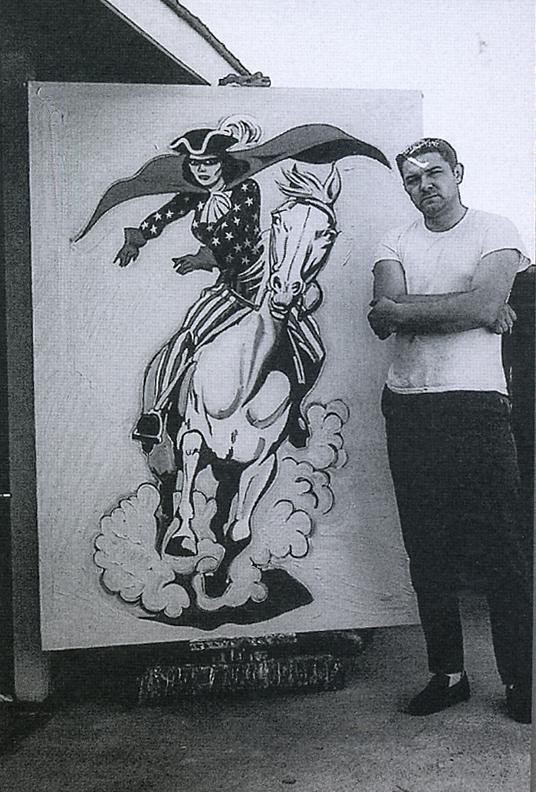 "Mel with ""Miss Liberty"" at his Sacramento studio, 1963."