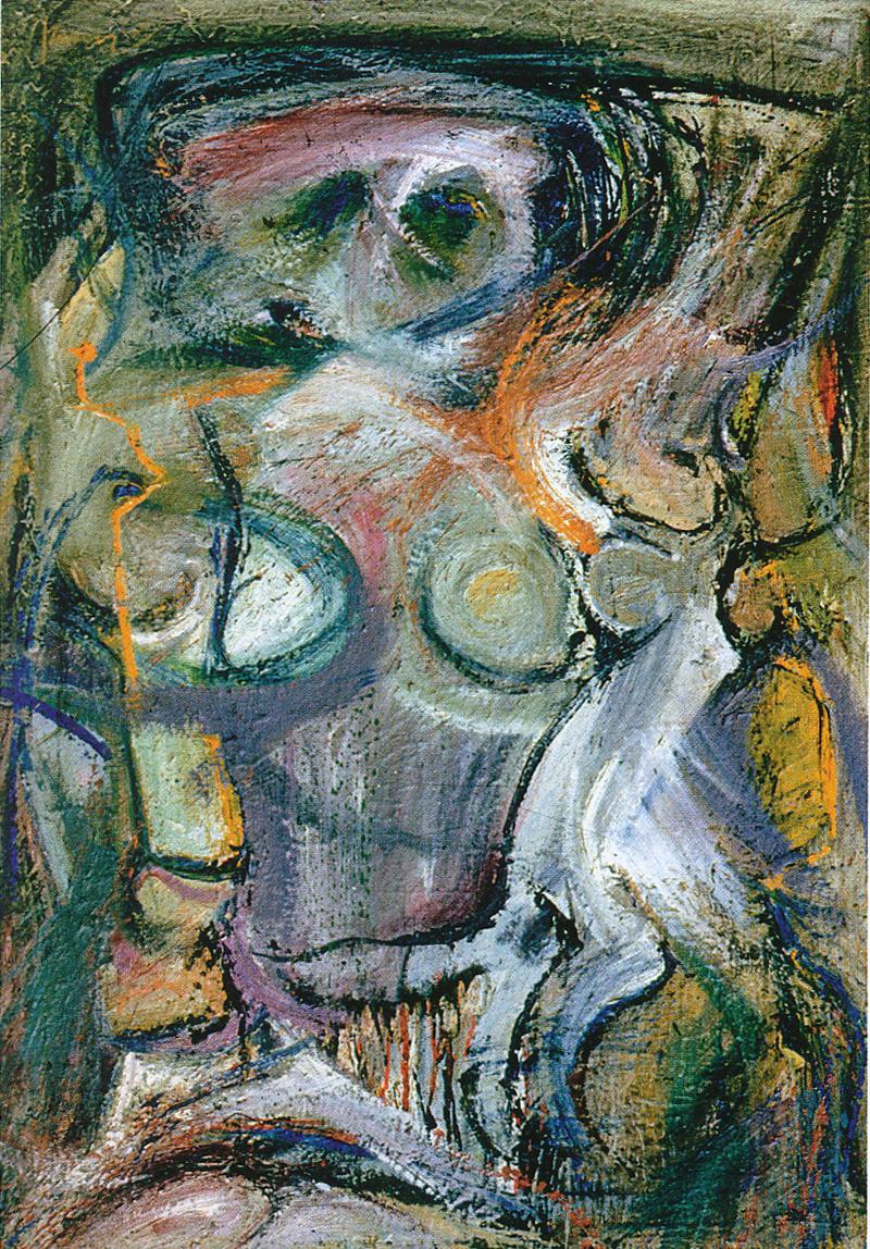 """""""Female Figure (After De Kooning),"""" 1958."""