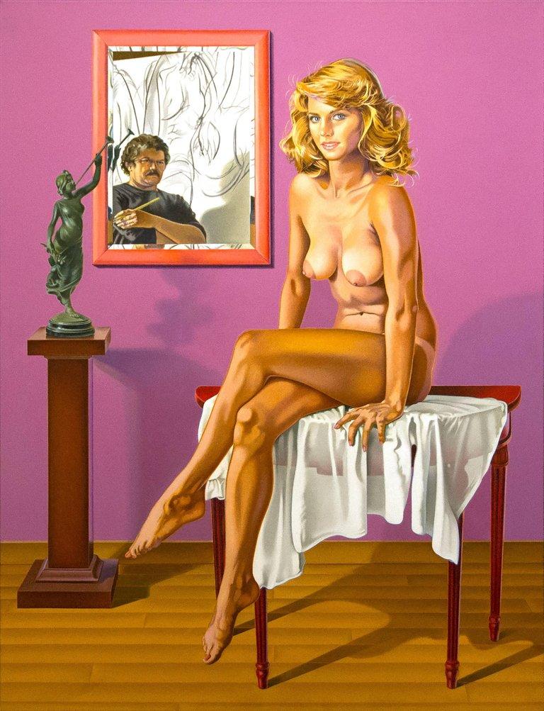 """Carmelina-Homage to Henri"" (oil on canvas, 1989-2010)  PUR"