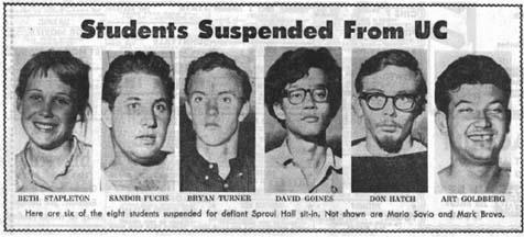 The start of the Free Speech movement.