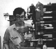 David Lance Goines at Berkeley Free Press, 1966.