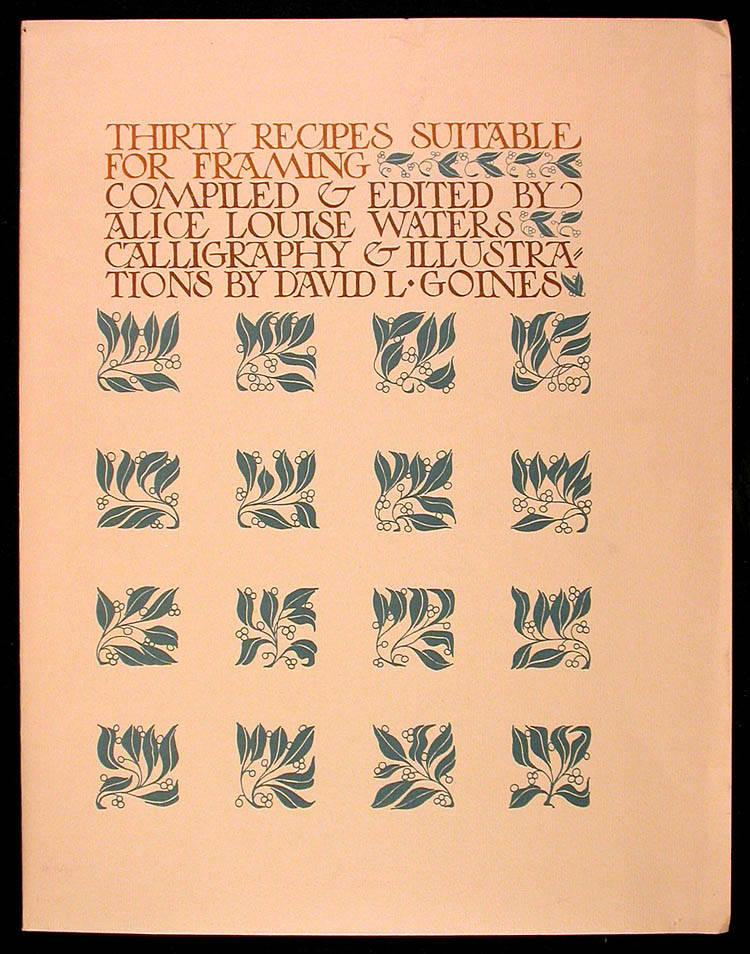 'Thirty Recipes Suitable for Framing' (1970)  $75