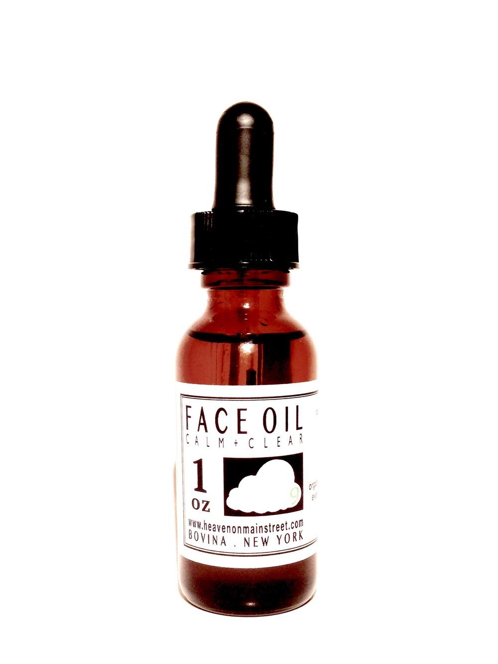 Heaven on Main Street Face Oil - Calm & Clear $59
