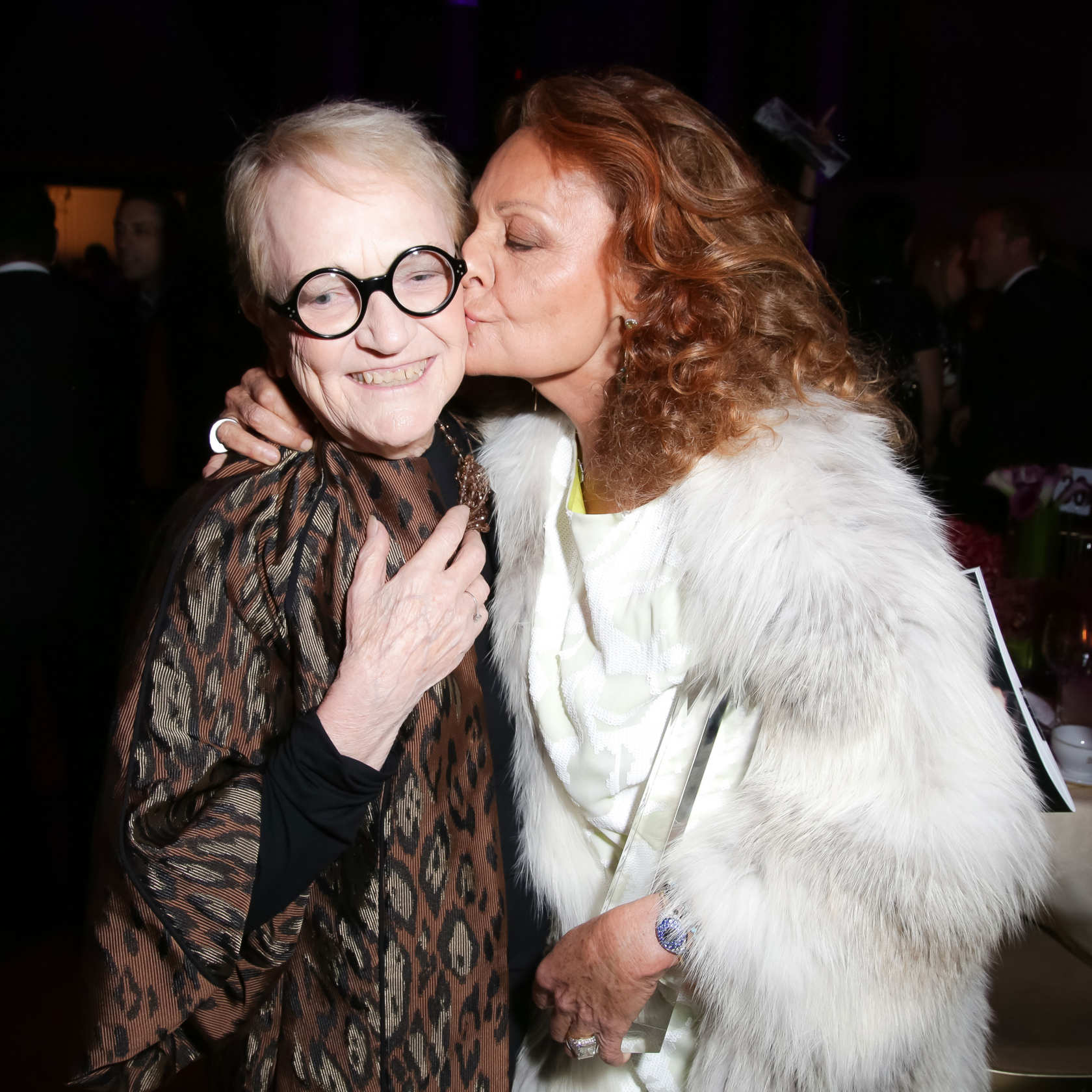 MaryLou Luther and Diane von Furstenberg at The Fashion Group International's 30th Annual Night of Stars on October 24th, 2014.