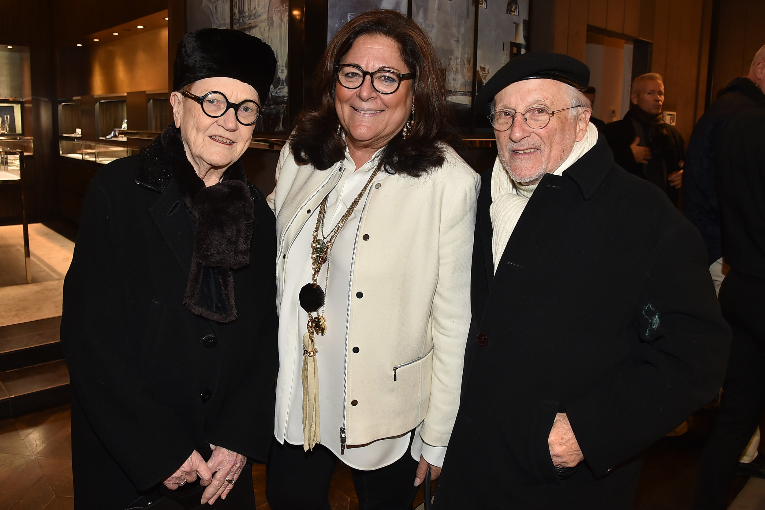 Marylou with fashion legends Fern Mallis and Stan Herman