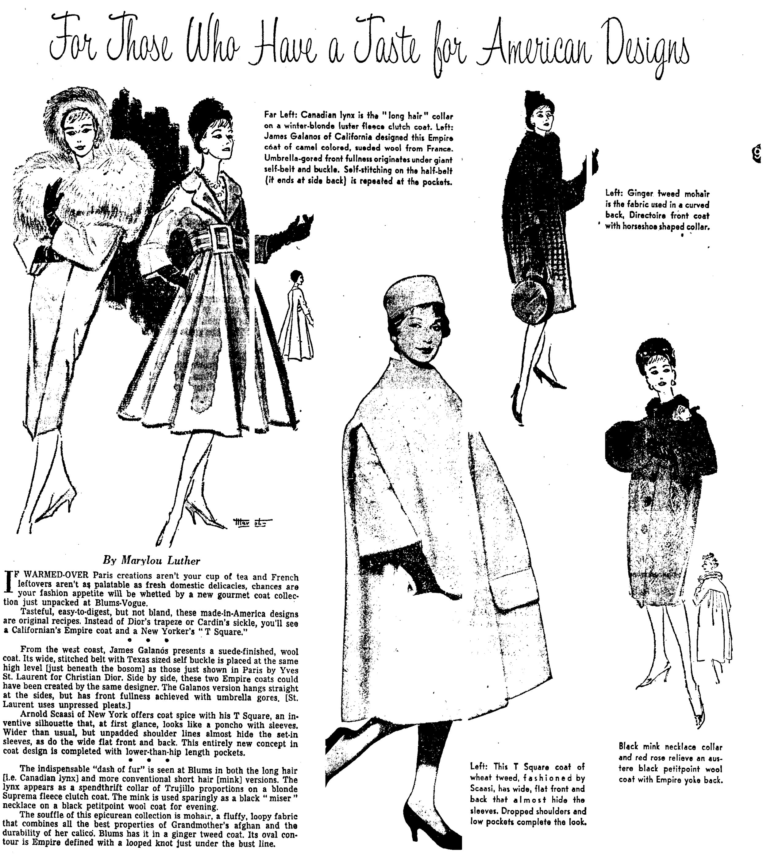An article by Marylou for the Chicago Tribune from 1958.