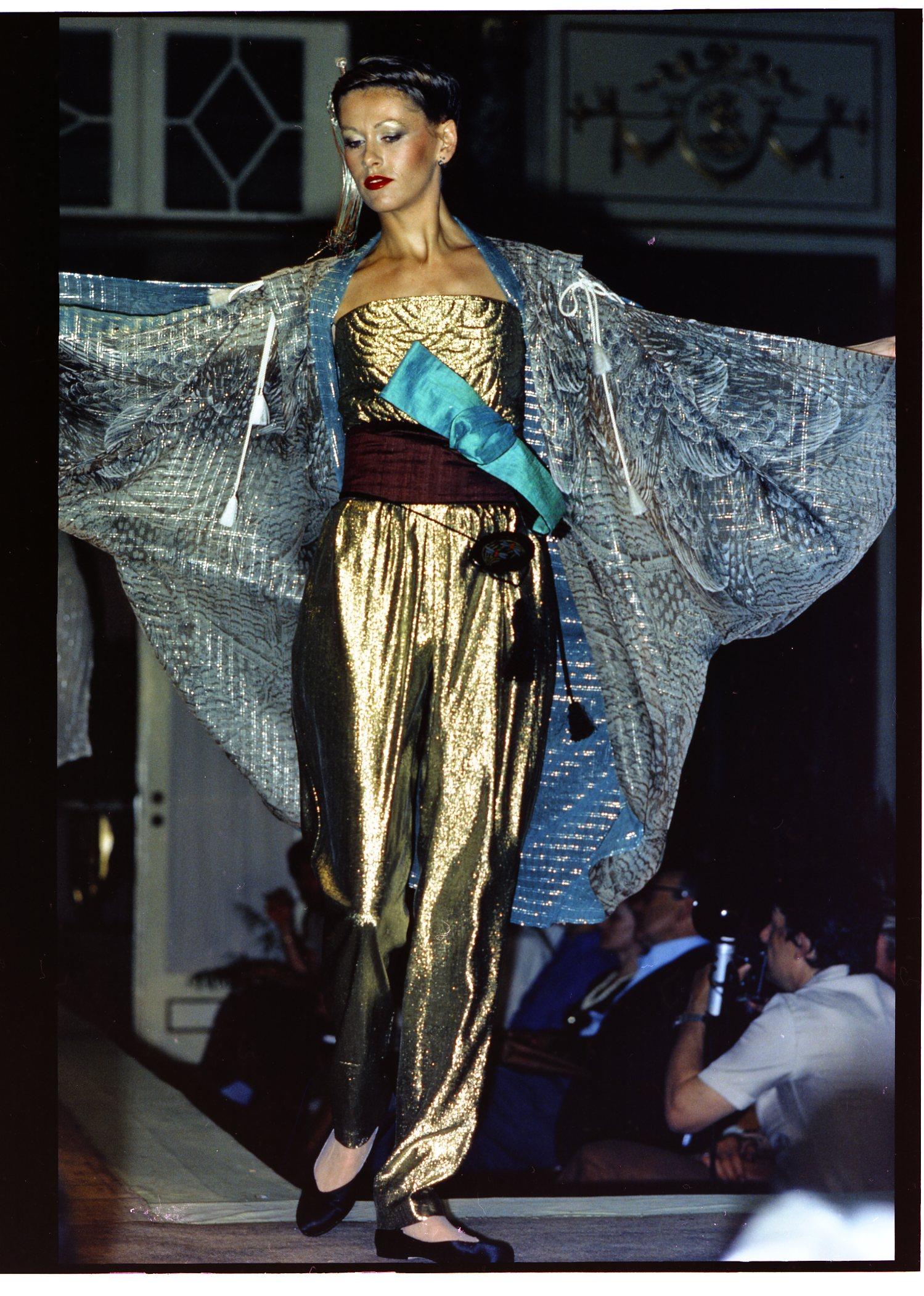 Showing in Rome at Alta Moda, 1978. Courtesy of Hiroko Koshino.