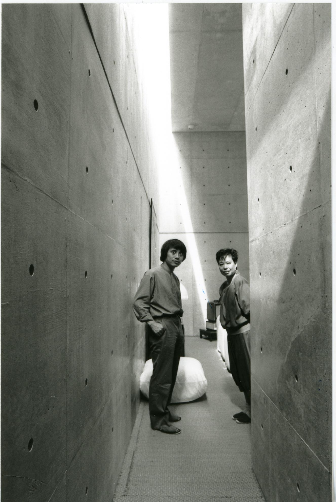 Tadao Ando and Hiroko Koshino in the Koshino House, the home he built for her. Courtesy Tadao Ando Architect & Associates.