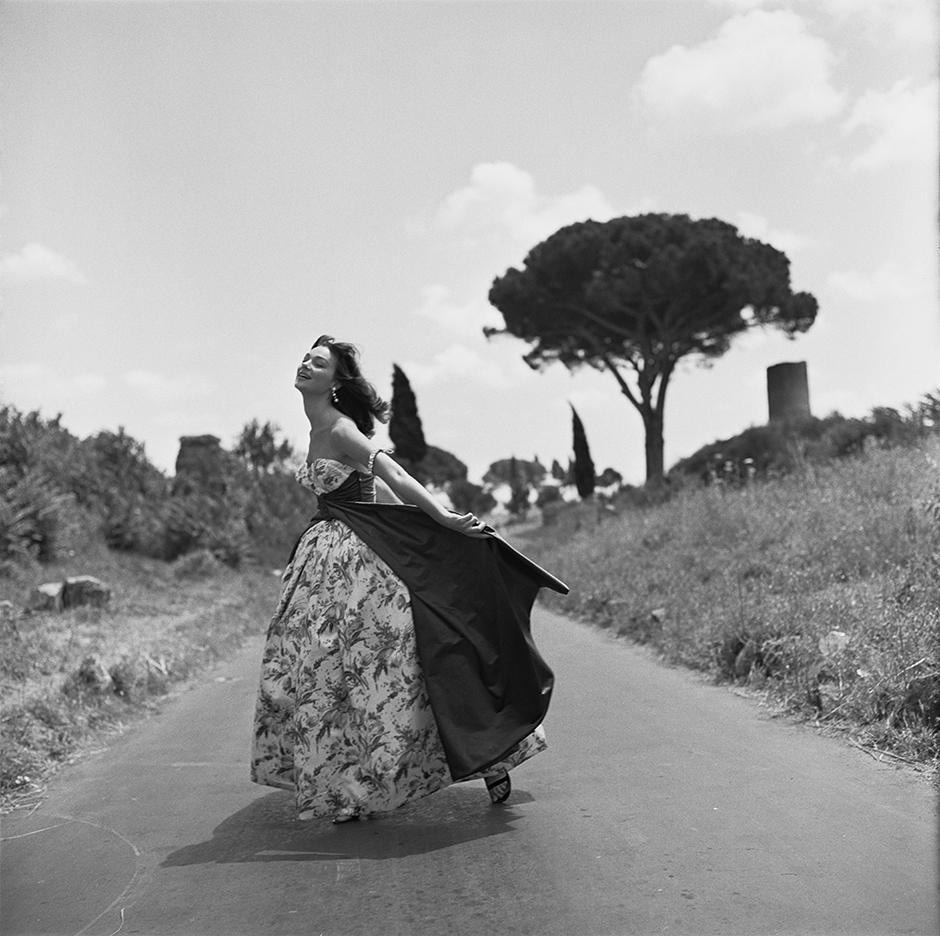 Ivy Nicholson dances her way down the Appian Way
