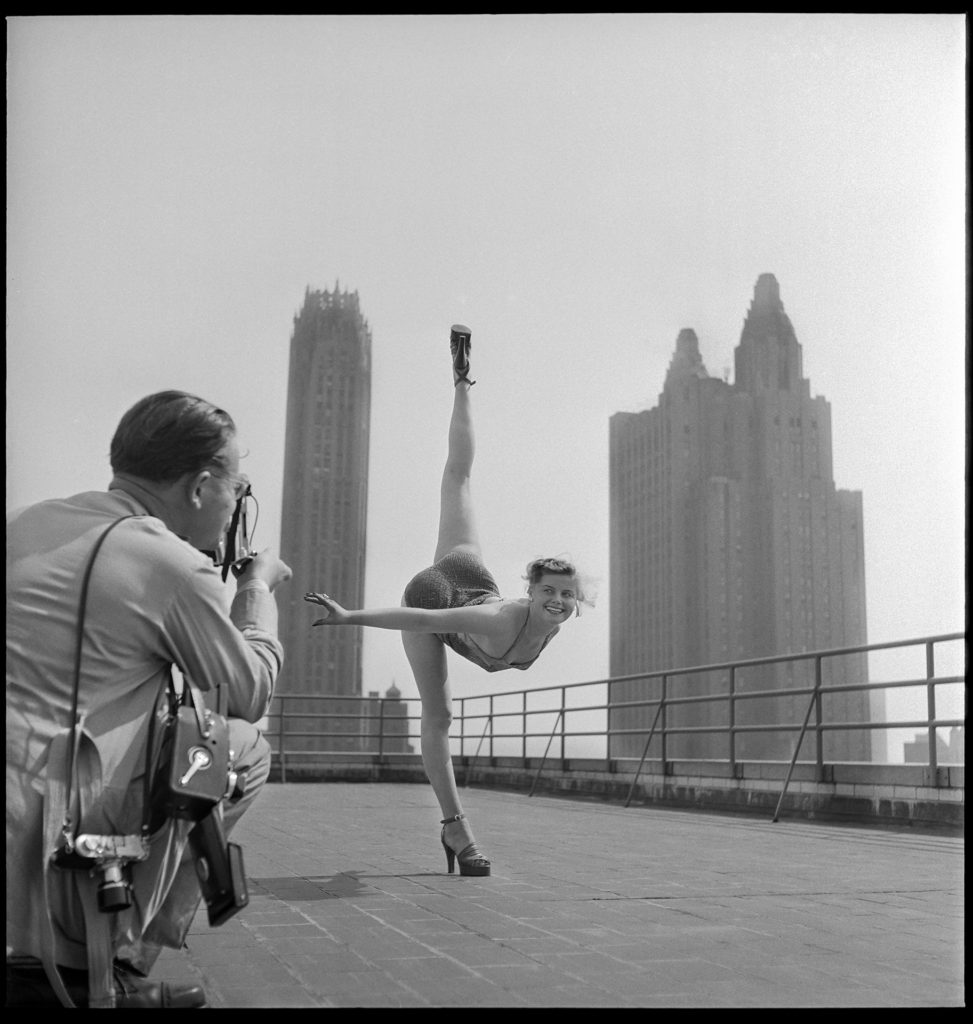 """Photographer Hanns Hubman snaps a photo of an early 1950's """"Miss Germany"""""""