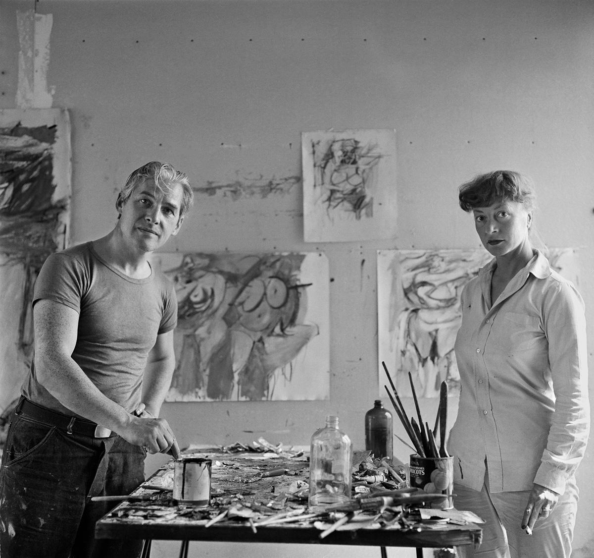 Willem De Kooning and Elaine De Kooning, East Hampton, 1953
