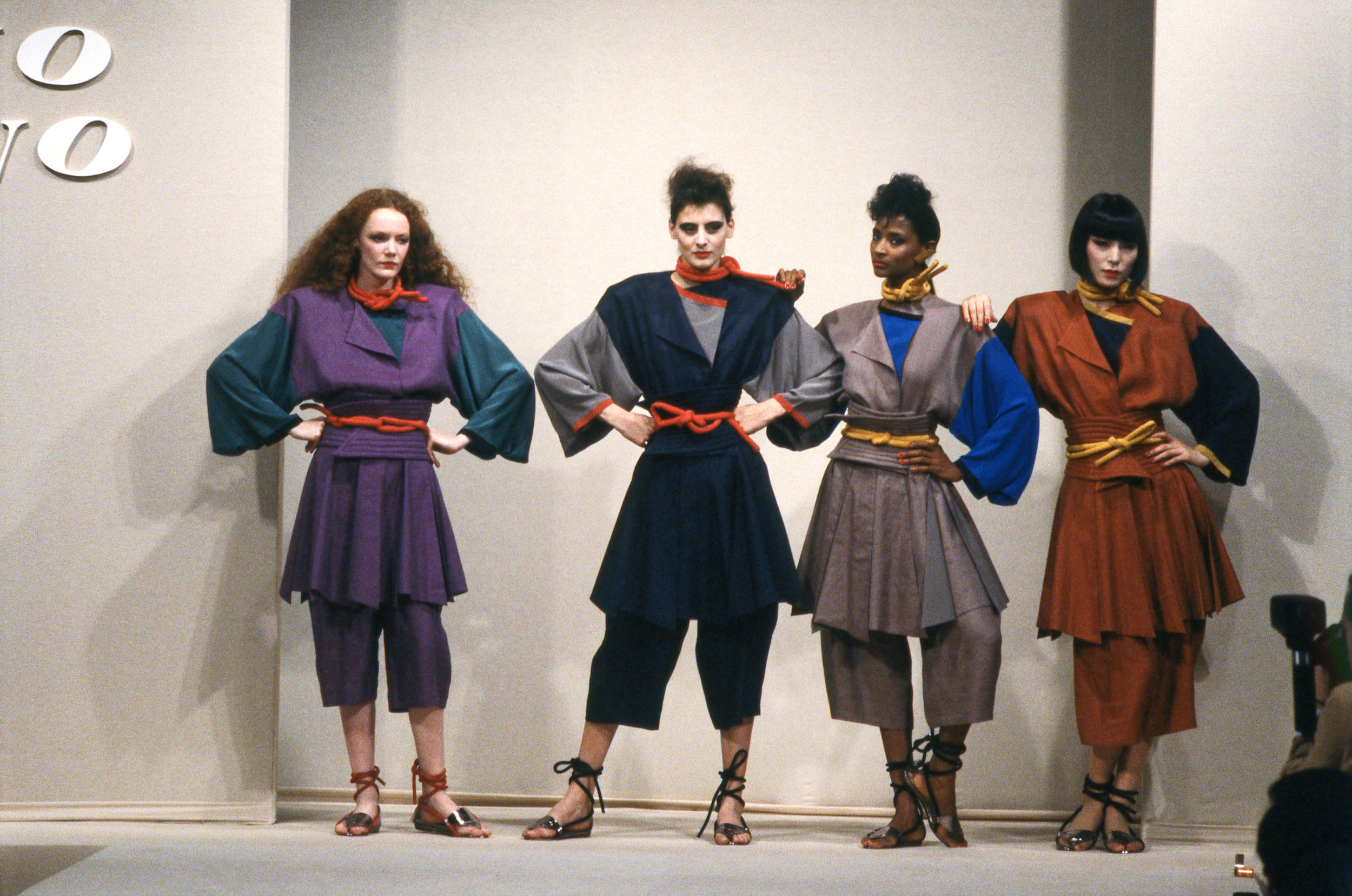 Hiroko Koshino's first show in Paris, 1982. -