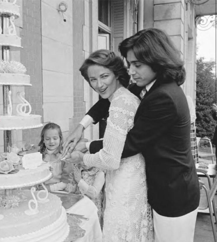 Charlotte Rampling and Jean Michel Jarre at their wedding..jpg