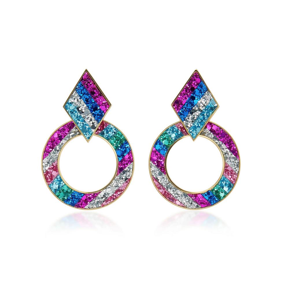 Shourouk Glitter Crystal Earrings $195