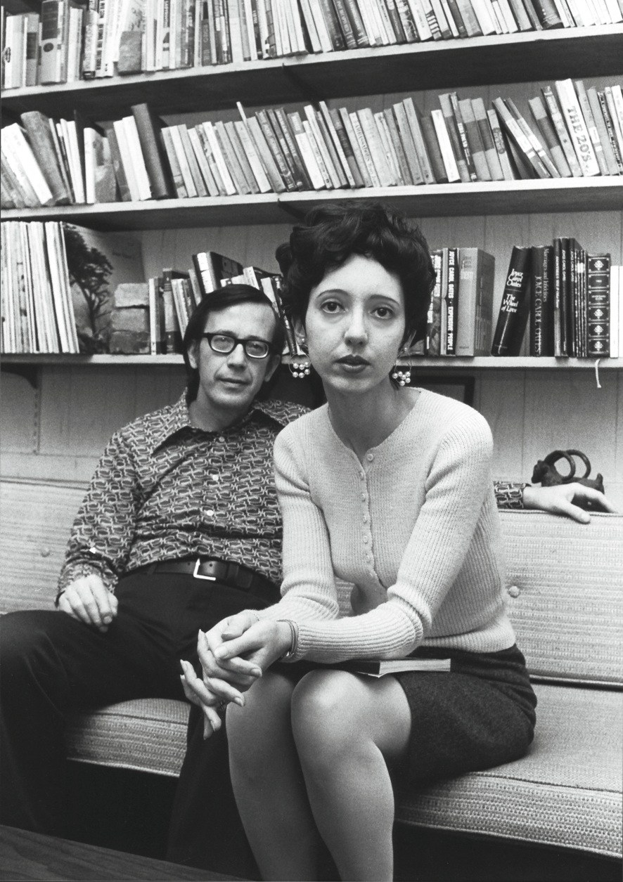 Joyce Carol Oates and her first husband Raymond Smith in 1972.