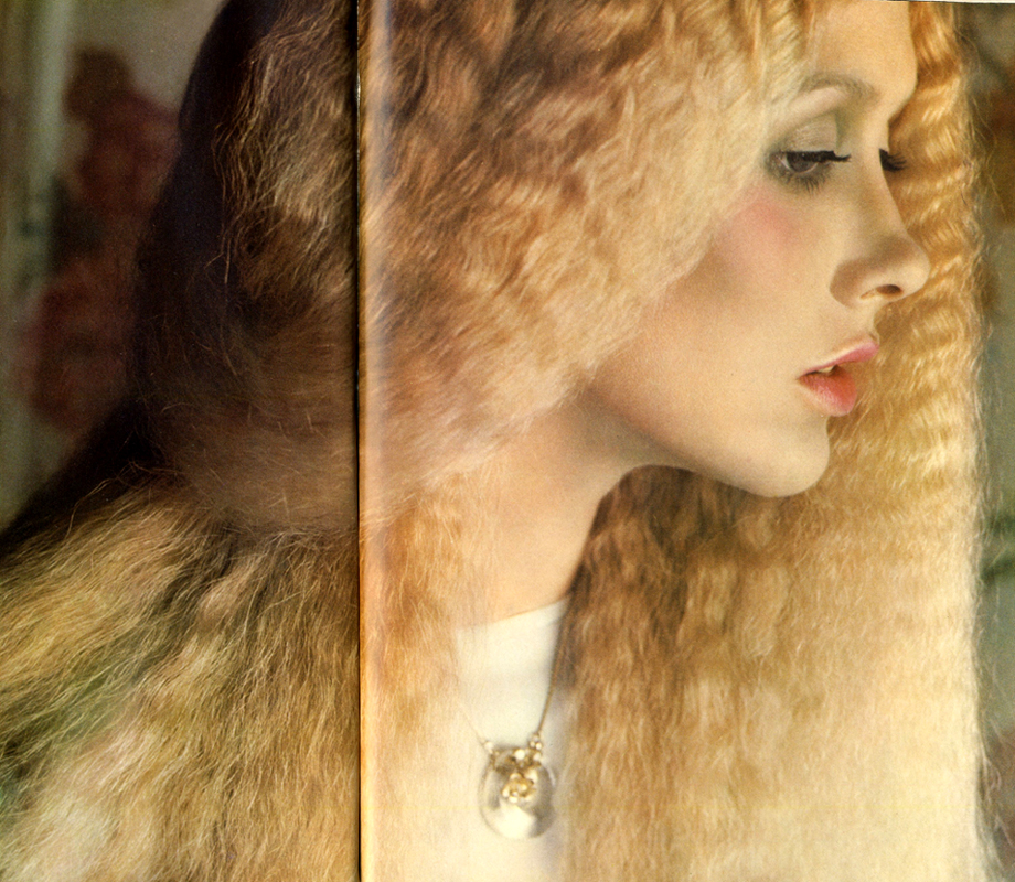 Photographed by Barry Lategan. Hair by John at Leonard. Make-up by Barbara Daly. Vogue, February 1975.jpg