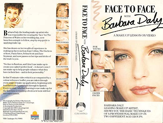 """""""Face to Face with Barbara Daly A Make Up Lesson on Video"""" $93"""