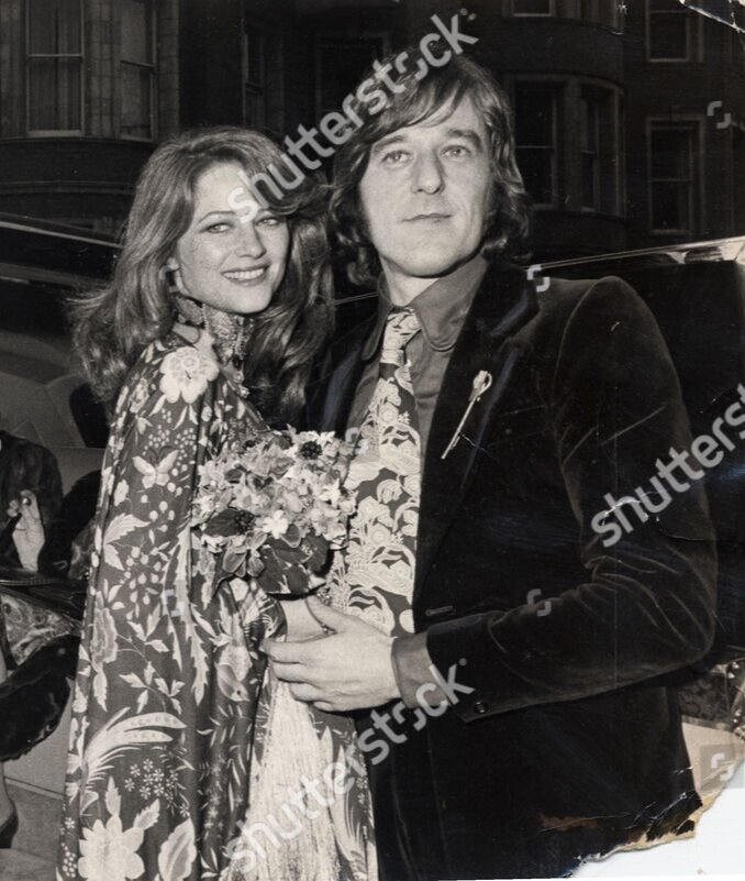 Brian Southcombe (1st Husband) With Wife Charlotte Rampling On Their Wedding Day At Kensington Registry Office_FEB 17 1972.jpg
